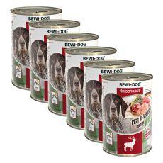 New BEWI DOG konzerva – Wild - 6 x 400 g, 5+1 GRATIS