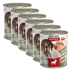 New BEWI DOG konzerva – Wild - 6 x 800 g, 5+1 GRATIS