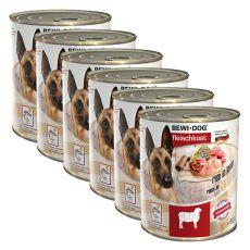New BEWI DOG konzerva – Jehněčí - 6 x 800 g, 5+1 GRATIS