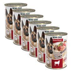 New BEWI DOG konzerva – Jehněčí - 6 x 400 g, 5+1 GRATIS