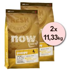 Petcurean NOW FRESH Grain Free PUPPY - 2 x 11,33 kg