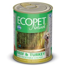 Farmina MO P ECOPET dog Beef & Turkey & Vegetables konzerva 1250 g