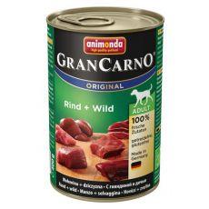 Konzerva GranCarno Original Adult hovězí maso a zvěřina - 400 g
