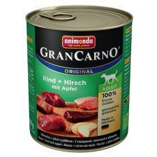 Konzerva GranCarno Original Adult hovězí a jelení maso s jablky - 800 g