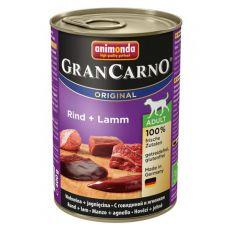 Konzerva GranCarno Original Adult hovězí maso a jehněčí - 400 g