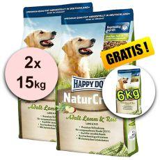 Happy Dog NaturCroq LAMM a REIS 2 x 15 kg + 6 kg GRATIS
