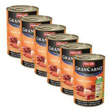 Konzerva GranCarno Original Adult hovězí maso a kuře - 6 x 400 g
