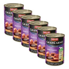 Konzerva GranCarno Original Adult hovězí maso a jehněčí - 6 x 400 g