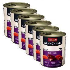 Konzerva GranCarno Original Adult hovězí a jehněčí maso - 6 x 800 g