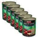 Konzerva GranCarno Original Adult hovězí a jelení maso s jablky - 6 x 800 g