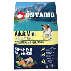 ONTARIO Adult Mini 7 Fish & Rice 2,25 kg