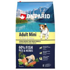ONTARIO Adult Mini 7 Fish & Rice 6,5 kg