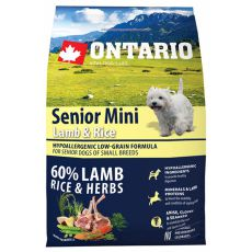 ONTARIO Senior Mini Lamb & Rice 2,25 kg