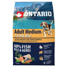 ONTARIO Adult Medium 7 Fish & Rice 2,25 kg