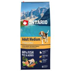 ONTARIO Adult Medium 7 Fish & Rice 12 kg