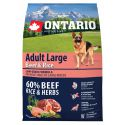 ONTARIO Adult Large Beef & Rice 2,25 kg