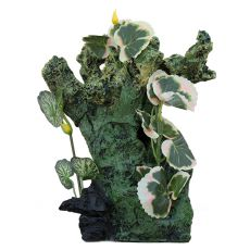 Dekorace do akvária 2157 - Zelená skála s rostlinami