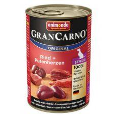 Konzerva GranCarno Original Senior hovězí maso a krůtí srdce - 400 g
