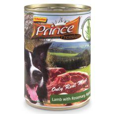 Konzerva PRINCE Premium - jehněčí s rozmarýnem, jablky a mrkví 400 g
