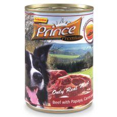 Konzerva PRINCE Premium – hovězí s papájou, mrkví a špenátem 400 g