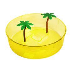 Plastové terárium pro želvy - žlutý kruh 24,5 cm