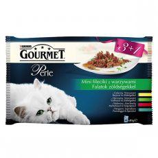Kapsičky GOURMET PERLE - maso v omáčce se zeleninou, 4 x 85 g