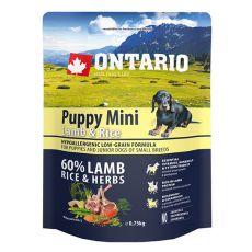 ONTARIO Puppy Mini Lamb & Rice 0,75kg