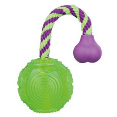 Přetahovadlo pro psa - míček na šňůrce 7 x 25 cm