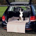 Pelech do auta, hnědo-béžový - 95 x 75 cm