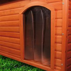 Dvířka na boudu pro psa, plastová - 32 x 45 cm