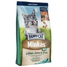 Happy Cat Minkas MIX - drůbeží, jehněčí a ryba - 4 kg