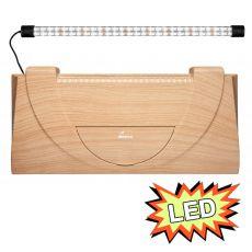 Kryt akvária s osvětlením 60x30 cm LED EXPERT 13W - BUK rovný