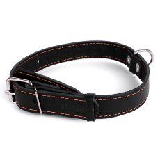 Kožený obojek pro psa – 48–63 cm, 35 mm – černý