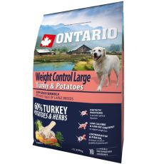 ONTARIO Weight Control Large – turkey & potatoes 2,25 kg