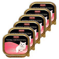 Animonda Vom Feinsten Adult Cats - s krůtími srdci 6 x 100g