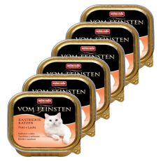 Animonda Vom Feinsten Castrated Cats - krůta + losos 6 x 100g
