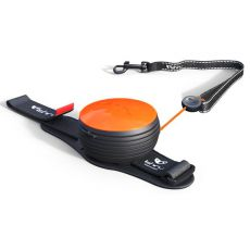 Lishinu NEON handsfree vodítko do 30 kg, 3m - oranžové