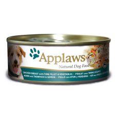 Konzerva APPLAWS dog kuřecí maso, tuňák a zelenina 156 g