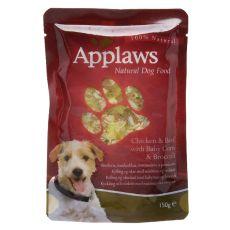 Kapsička APPLAWS dog kuře, hovězí maso, baby kukuřice a brokolice 150 g