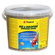 TROPICAL Koi & Goldfish spirulina sticks - 5 l/450 g