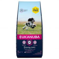 EUKANUBA PUPPY Medium Breed 15kg + 3kg ZDARMA