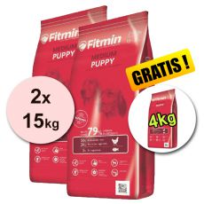 Fitmin MEDIUM Puppy 2x15kg + 4kg - DOPRAVA ZDARMA