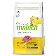 Trainer Natural Small and Toy Adult, hovězí a rýže 7 kg