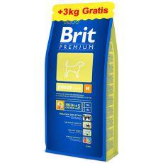 Brit Premium Junior Medium 15 kg + 3kg GRATIS