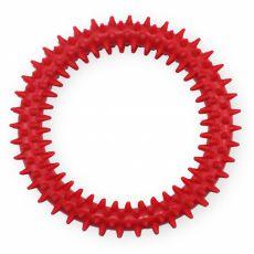 TPR Gumový kruh s výstupky – červený 12,5 cm