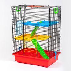 Klec pro křečka TEDDY II color s plastovou výbavou