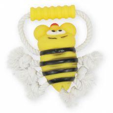 Přetahovadlo pro psa – včelka na šňůře, 26 cm