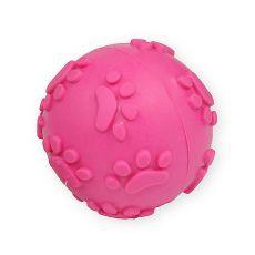 TPR Hračka pro psa – pískací míč, růžový 6cm
