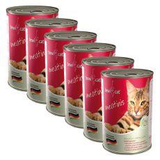 Konzerva BEWI CAT Meatinis WILD - 6 x 400g, 5+1 GRATIS