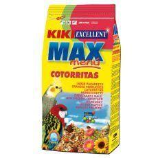 KIKI MAX MENU Cotorritas – krmivo pro korely a agapornise 1 kg